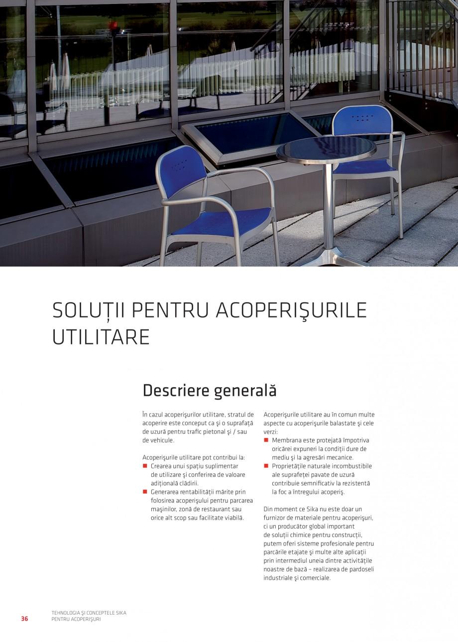 Pagina 35 - Tehnologia si conceptele Sika pentru acoperisuri SIKA Sarnafil® TG 66-18,...