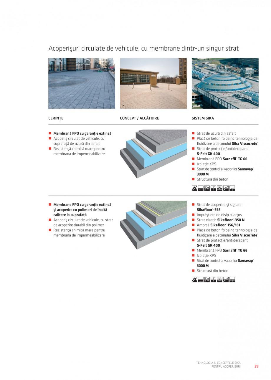 Pagina 38 - Tehnologia si conceptele Sika pentru acoperisuri SIKA Sarnafil® TG 66-18,...