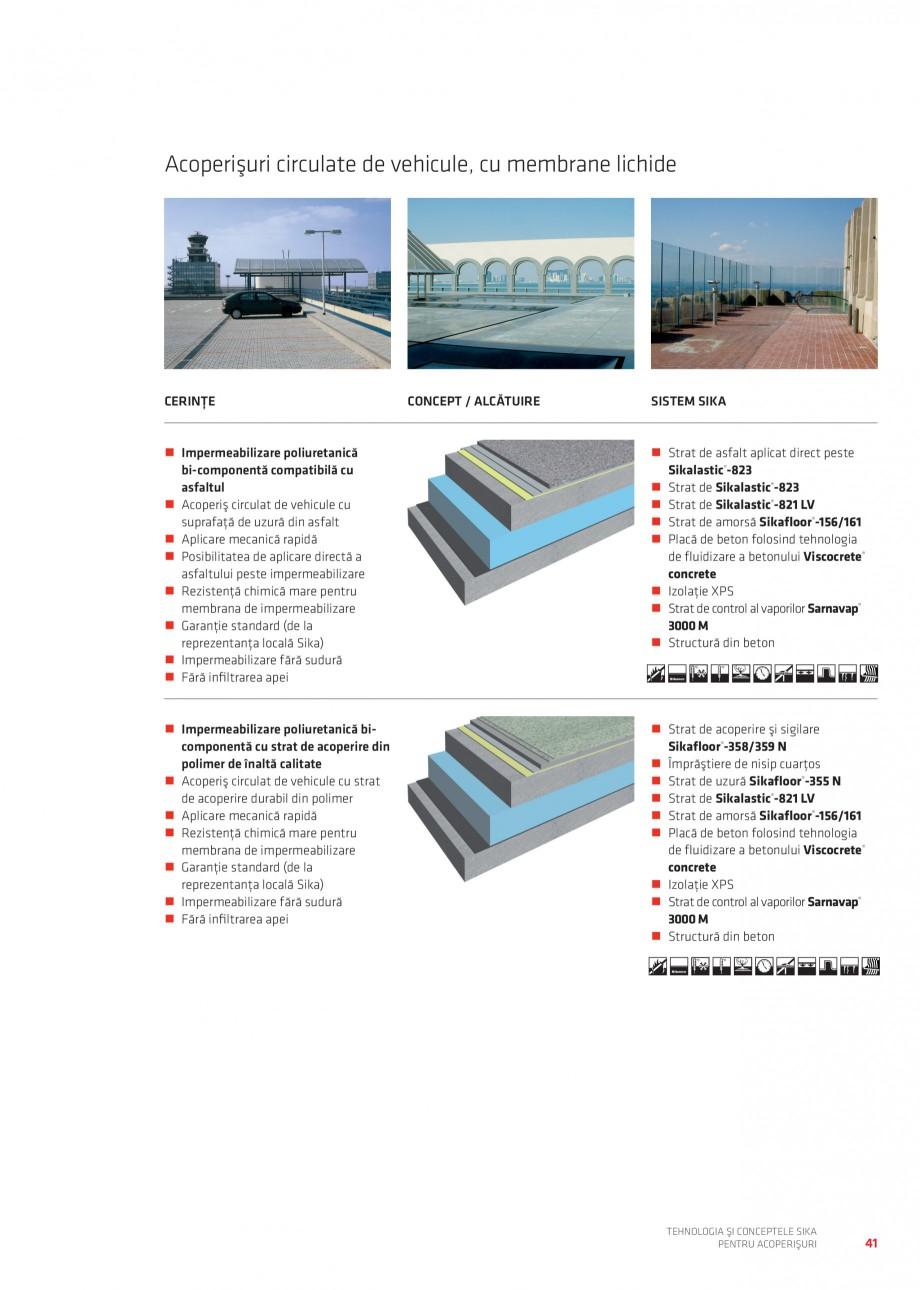 Pagina 40 - Tehnologia si conceptele Sika pentru acoperisuri SIKA Sarnafil® TG 66-18,...