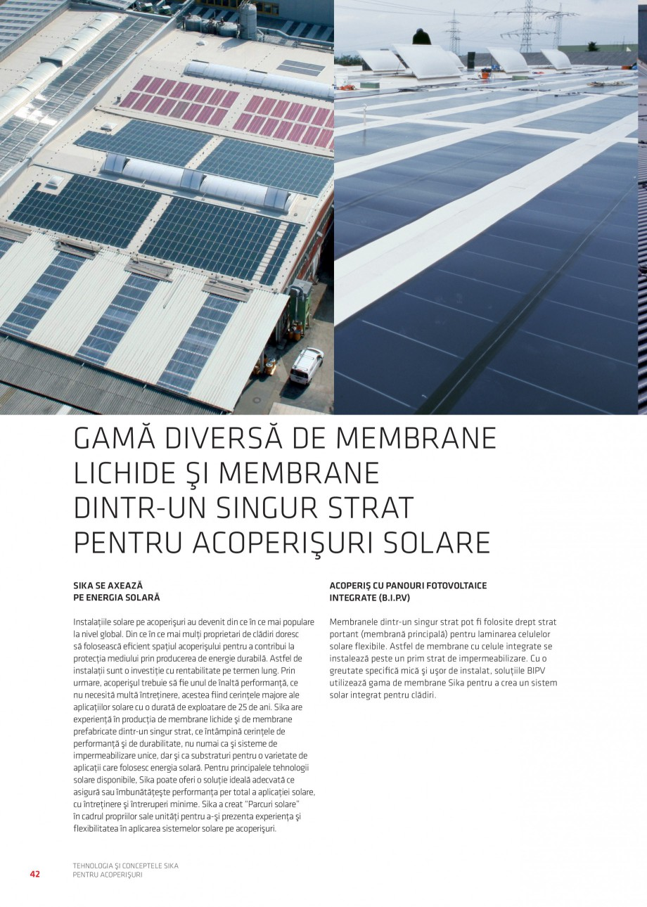 Pagina 41 - Tehnologia si conceptele Sika pentru acoperisuri SIKA Sarnafil® TG 66-18,...
