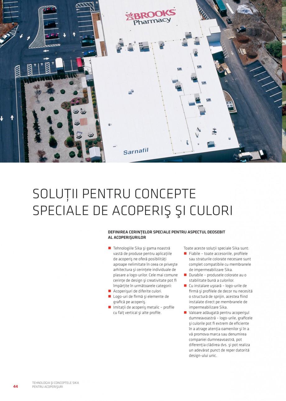 Pagina 43 - Tehnologia si conceptele Sika pentru acoperisuri SIKA Sarnafil® TG 66-18,...