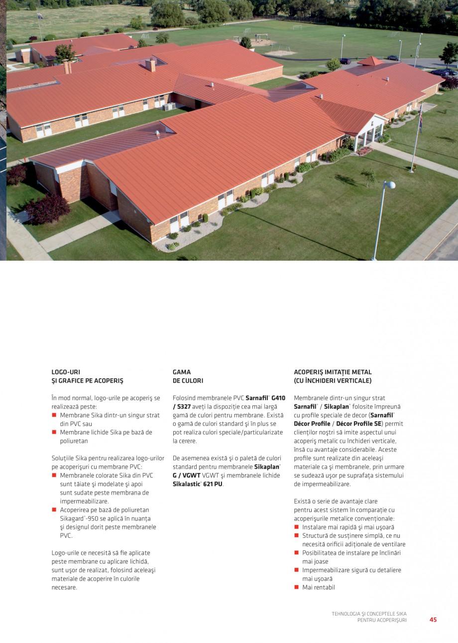 Pagina 44 - Tehnologia si conceptele Sika pentru acoperisuri SIKA Sarnafil® TG 66-18,...
