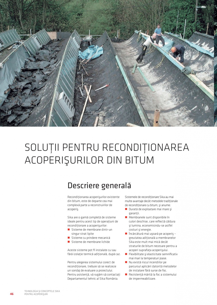 Pagina 45 - Tehnologia si conceptele Sika pentru acoperisuri SIKA Sarnafil® TG 66-18,...