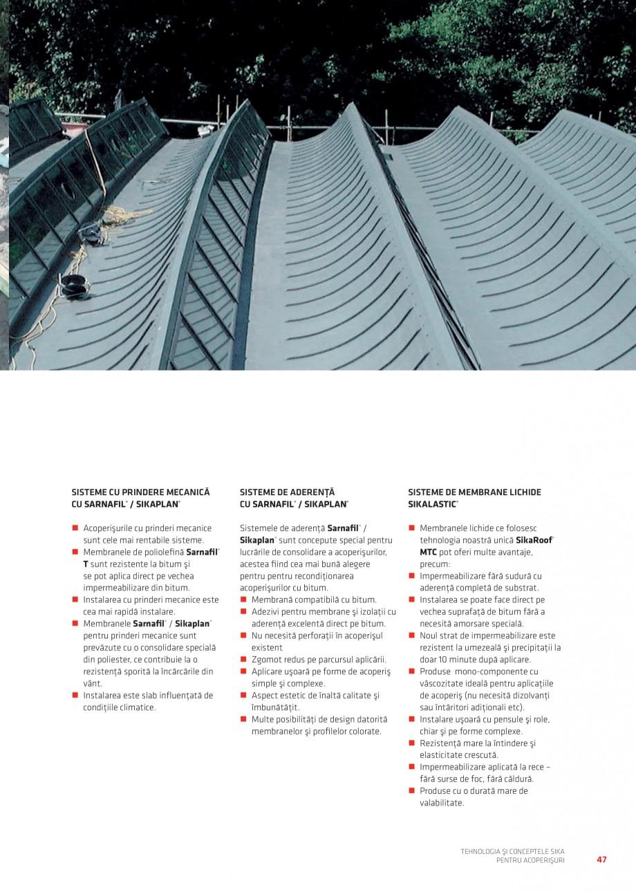 Pagina 46 - Tehnologia si conceptele Sika pentru acoperisuri SIKA Sarnafil® TG 66-18,...