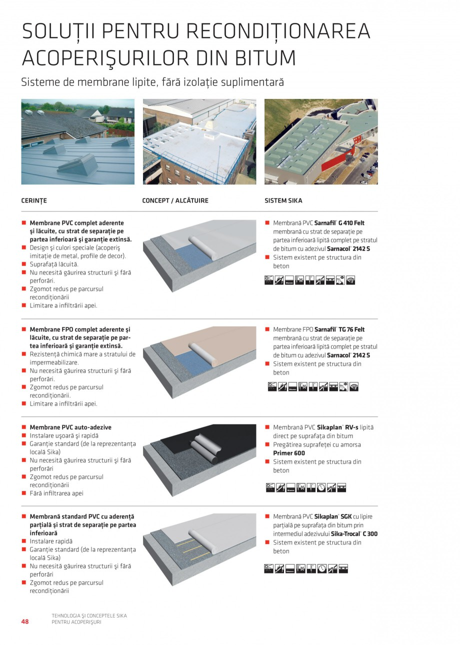 Pagina 47 - Tehnologia si conceptele Sika pentru acoperisuri SIKA Sarnafil® TG 66-18,...