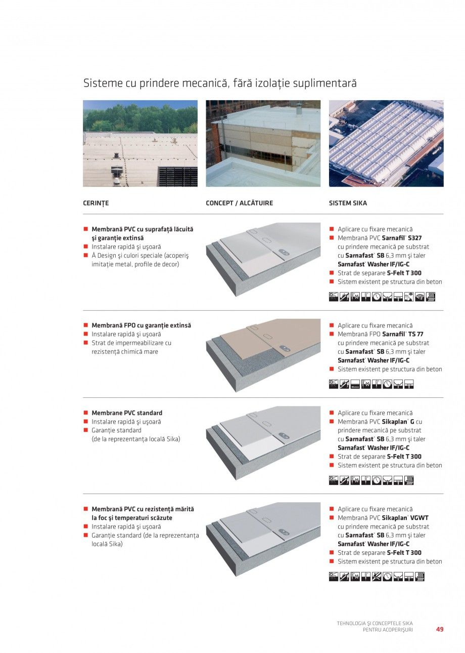 Pagina 48 - Tehnologia si conceptele Sika pentru acoperisuri SIKA Sarnafil® TG 66-18,...