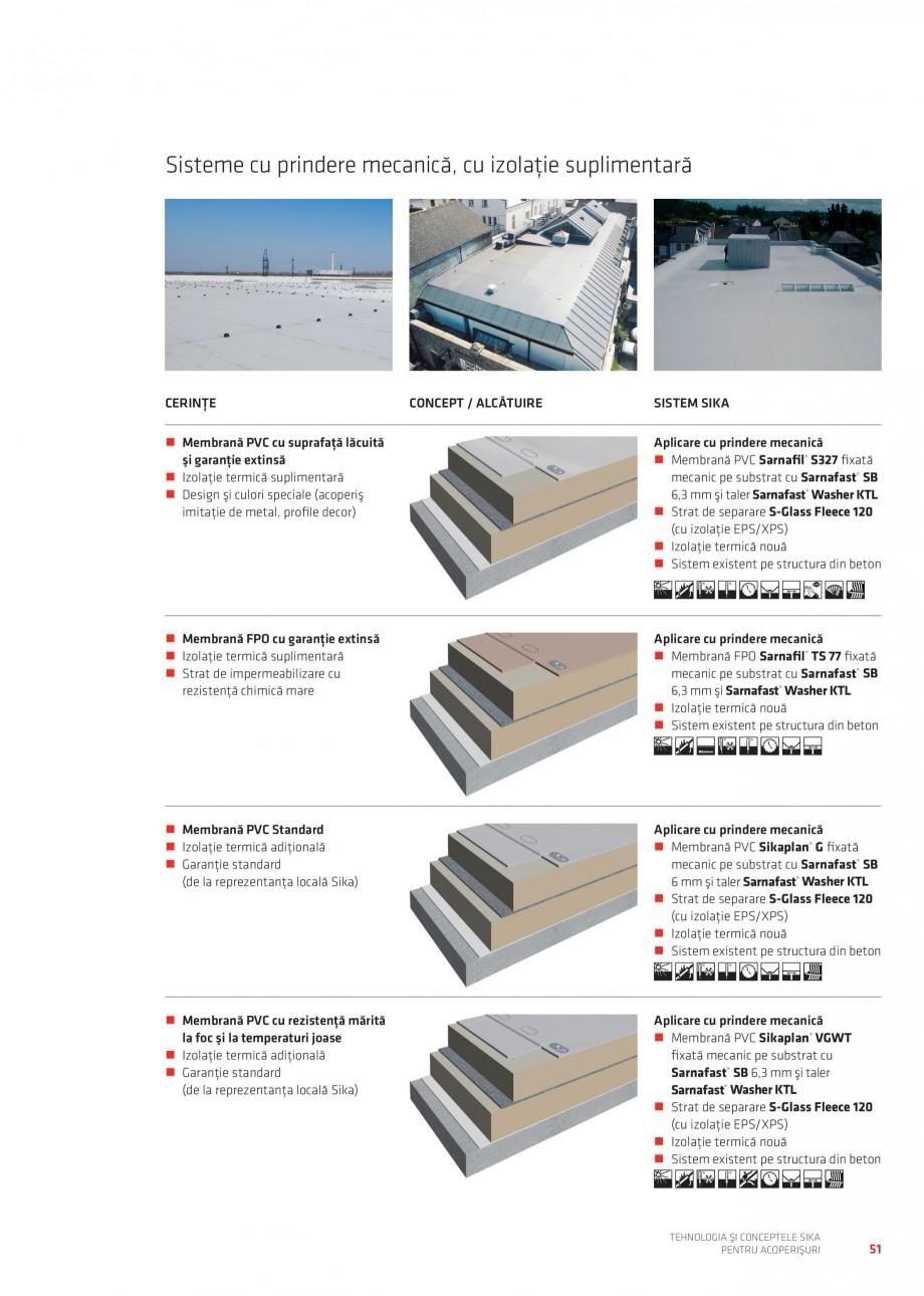 Pagina 50 - Tehnologia si conceptele Sika pentru acoperisuri SIKA Sarnafil® TG 66-18,...