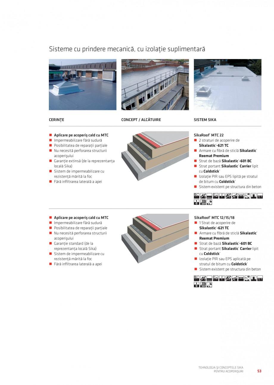 Pagina 52 - Tehnologia si conceptele Sika pentru acoperisuri SIKA Sarnafil® TG 66-18,...