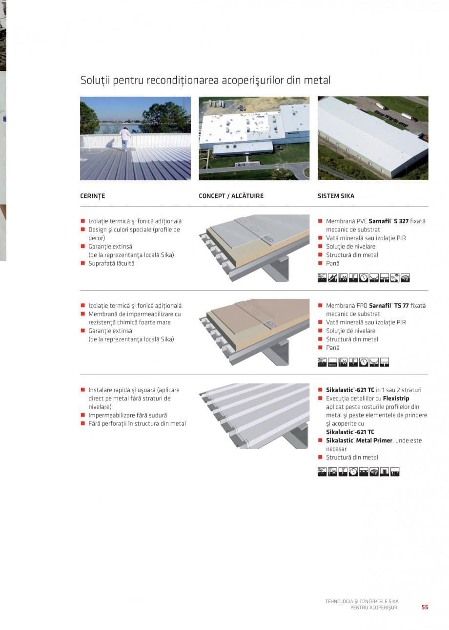 Pagina 54 - Tehnologia si conceptele Sika pentru acoperisuri SIKA Sarnafil® TG 66-18,...
