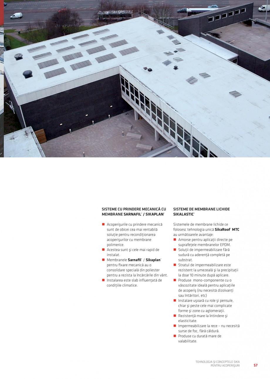 Pagina 56 - Tehnologia si conceptele Sika pentru acoperisuri SIKA Sarnafil® TG 66-18,...