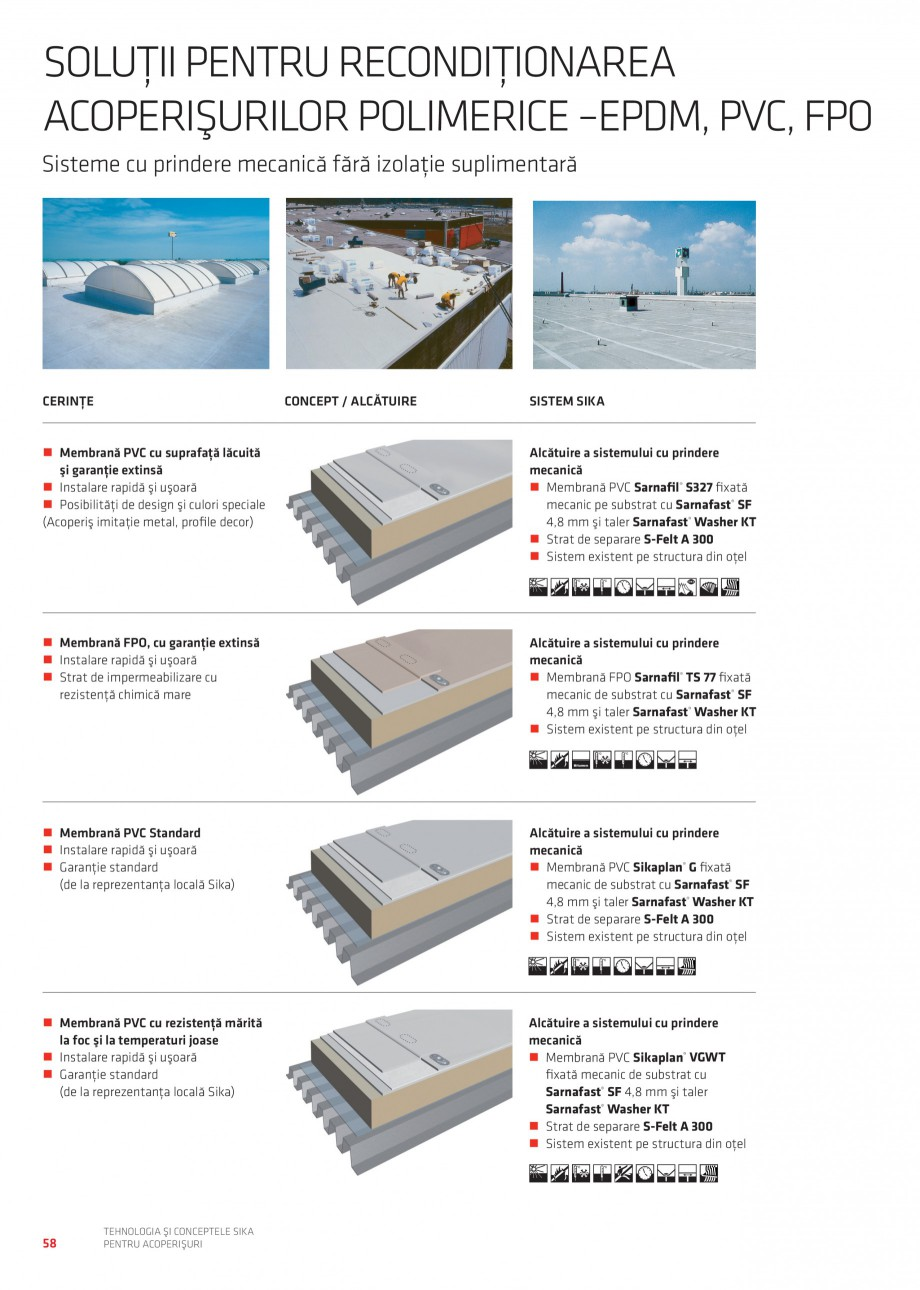 Pagina 57 - Tehnologia si conceptele Sika pentru acoperisuri SIKA Sarnafil® TG 66-18,...