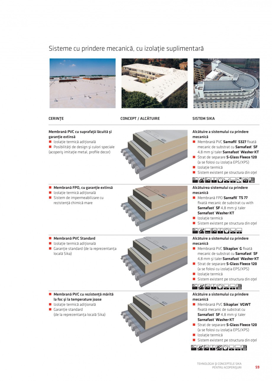 Pagina 58 - Tehnologia si conceptele Sika pentru acoperisuri SIKA Sarnafil® TG 66-18,...