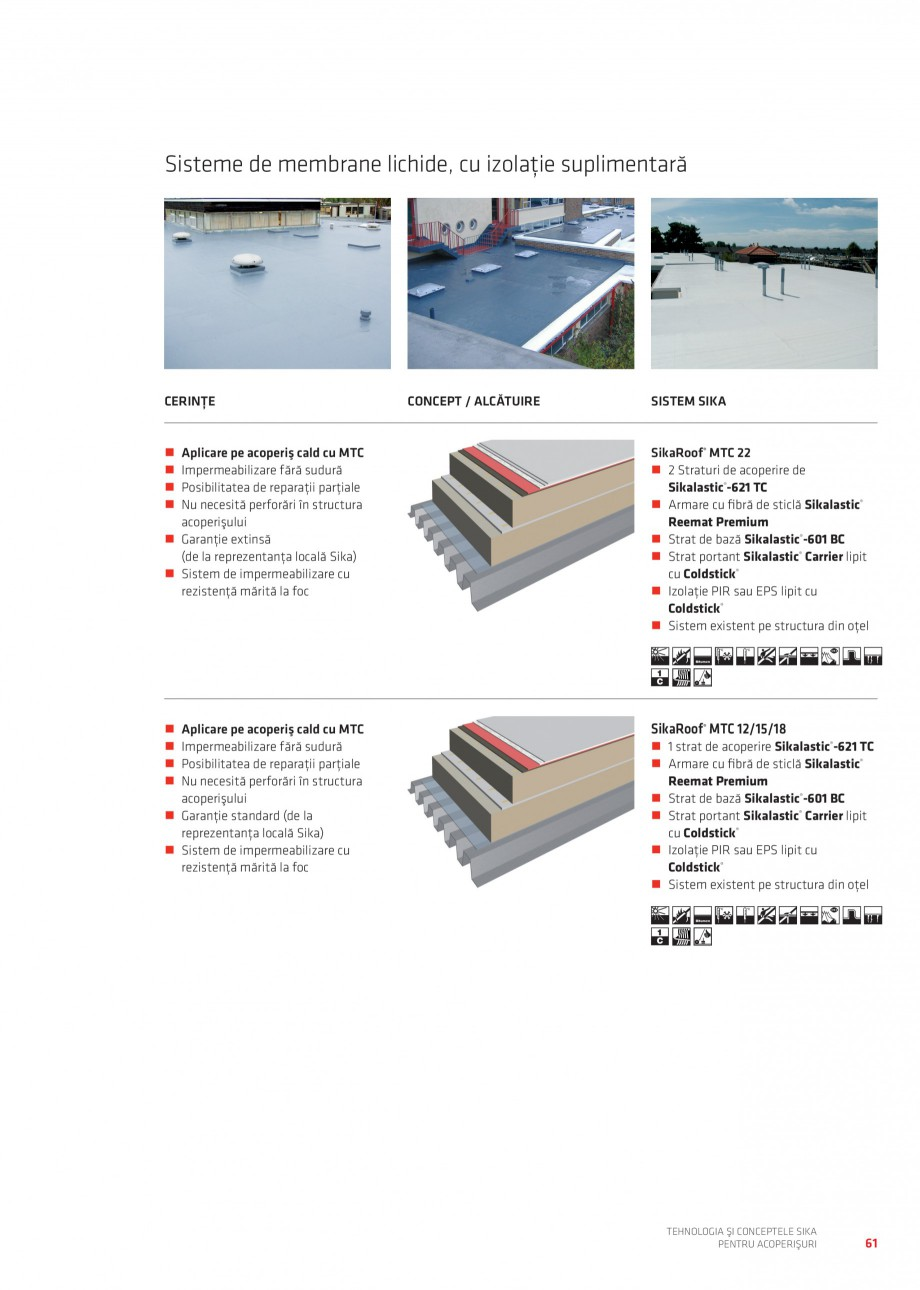Pagina 60 - Tehnologia si conceptele Sika pentru acoperisuri SIKA Sarnafil® TG 66-18,...