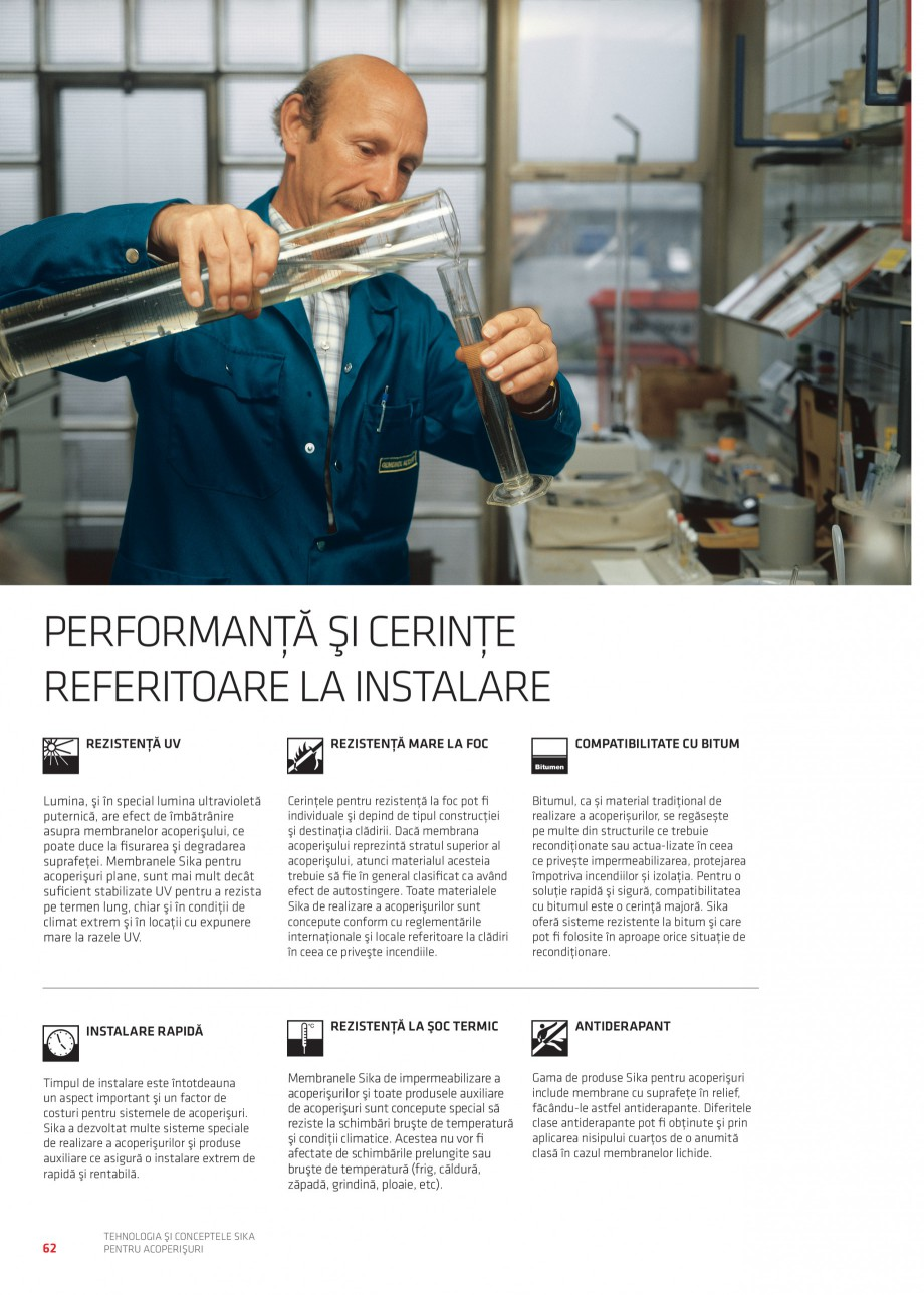 Pagina 61 - Tehnologia si conceptele Sika pentru acoperisuri SIKA Sarnafil® TG 66-18,...