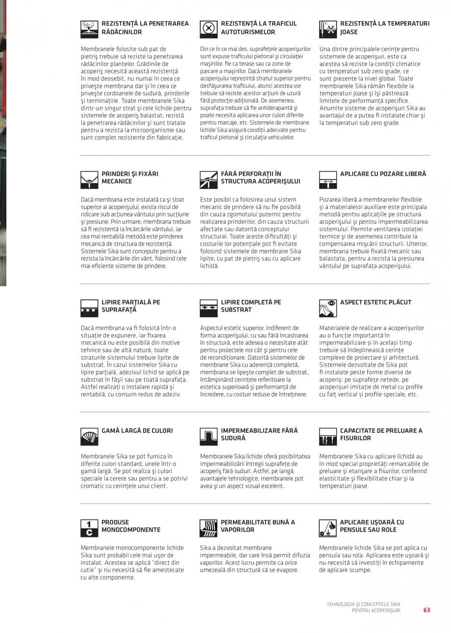 Pagina 62 - Tehnologia si conceptele Sika pentru acoperisuri SIKA Sarnafil® TG 66-18,...