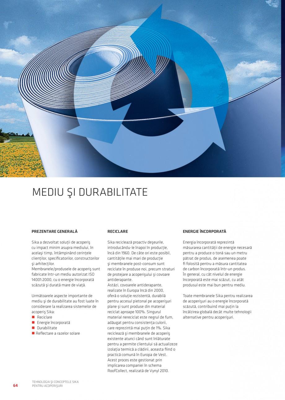 Pagina 63 - Tehnologia si conceptele Sika pentru acoperisuri SIKA Sarnafil® TG 66-18,...