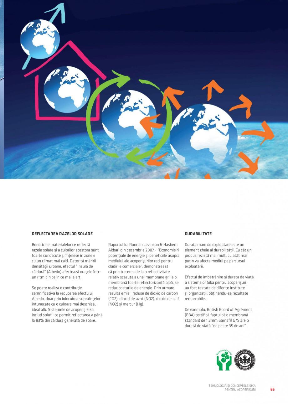 Pagina 64 - Tehnologia si conceptele Sika pentru acoperisuri SIKA Sarnafil® TG 66-18,...