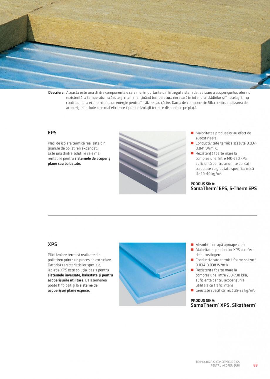 Pagina 68 - Tehnologia si conceptele Sika pentru acoperisuri SIKA Sarnafil® TG 66-18,...