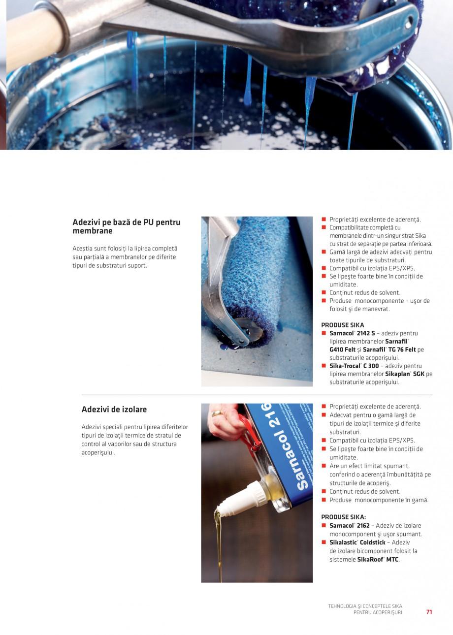 Pagina 70 - Tehnologia si conceptele Sika pentru acoperisuri SIKA Sarnafil® TG 66-18,...