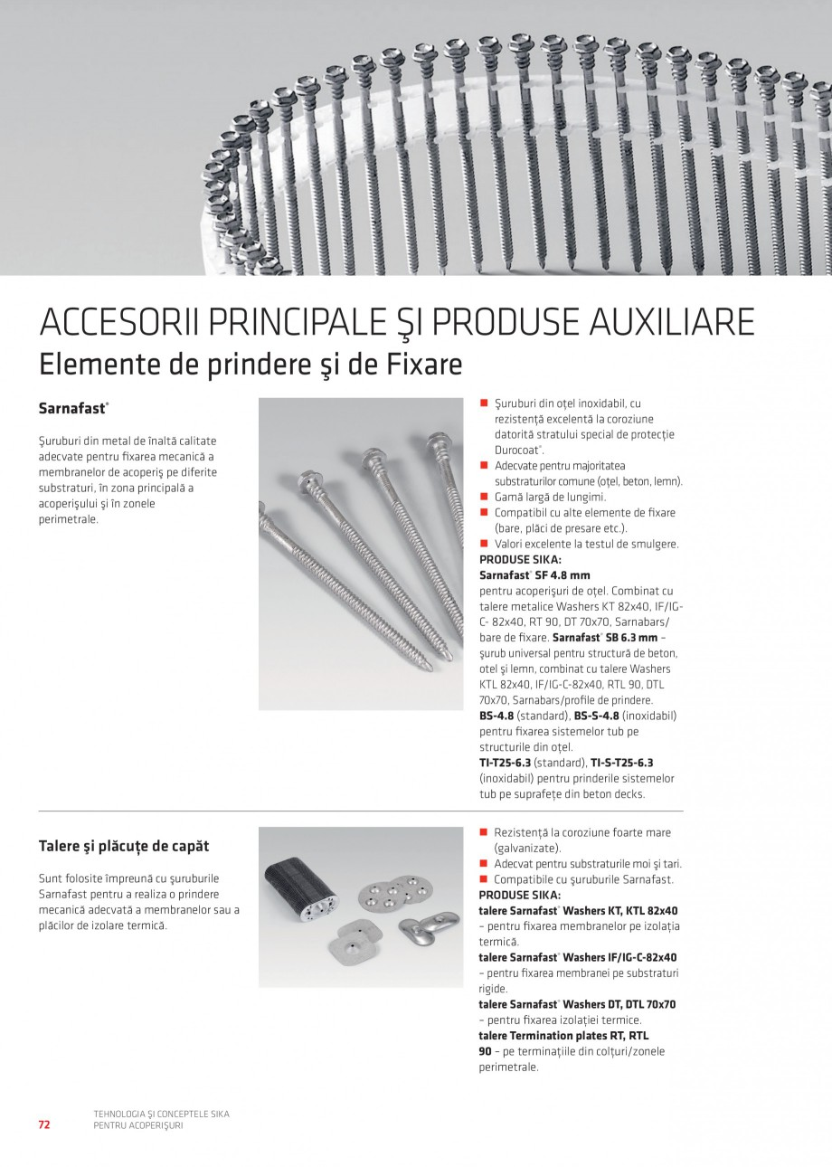 Pagina 71 - Tehnologia si conceptele Sika pentru acoperisuri SIKA Sarnafil® TG 66-18,...