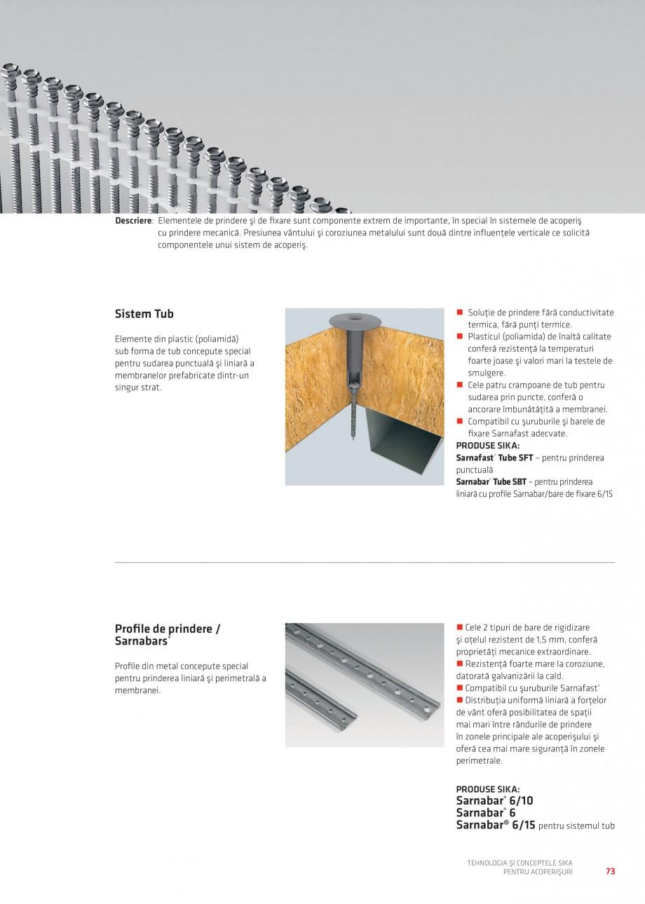 Pagina 72 - Tehnologia si conceptele Sika pentru acoperisuri SIKA Sarnafil® TG 66-18,...