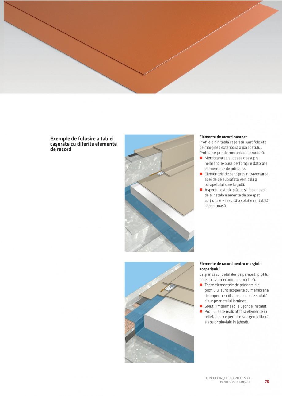 Pagina 74 - Tehnologia si conceptele Sika pentru acoperisuri SIKA Sarnafil® TG 66-18,...