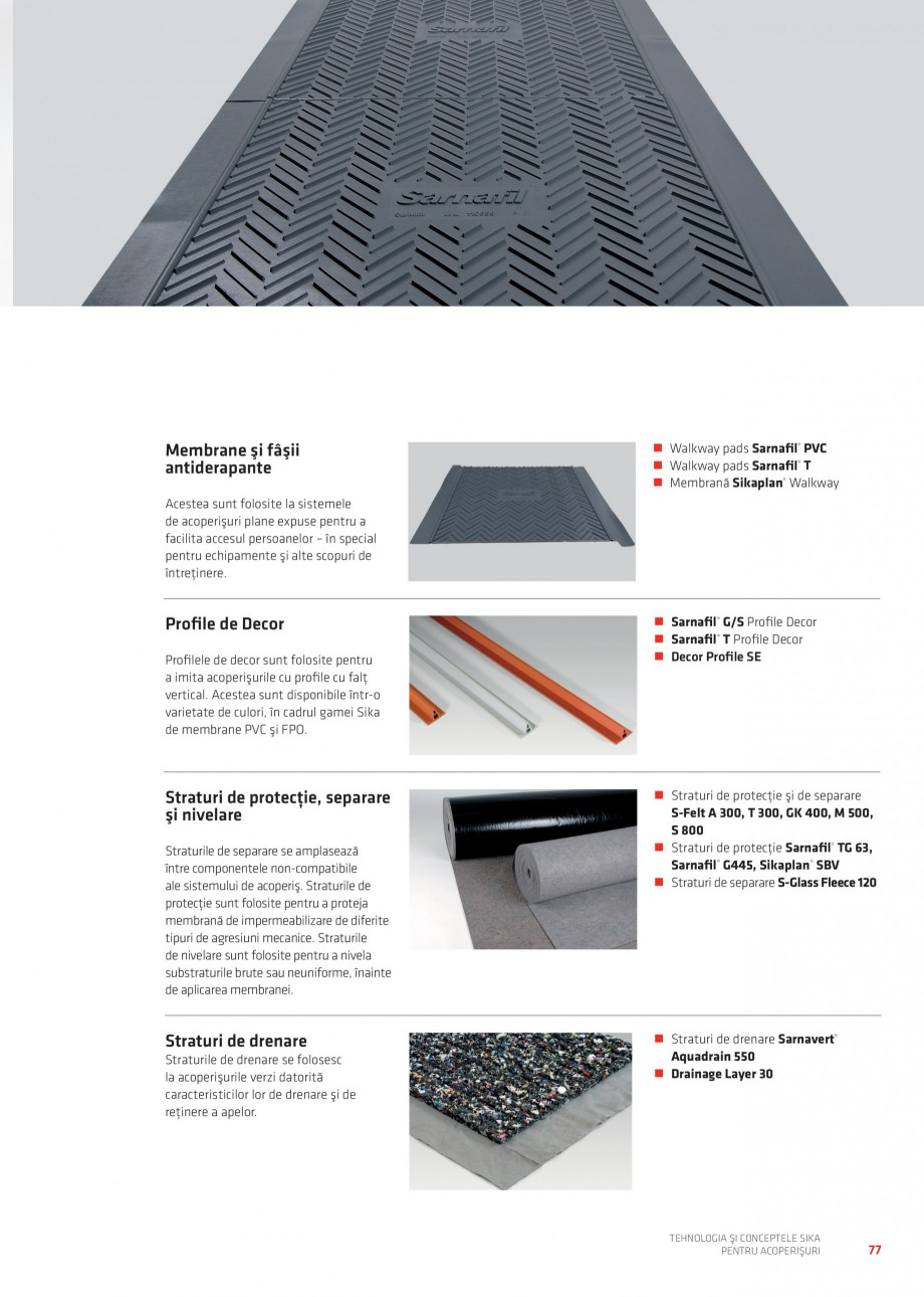 Pagina 76 - Tehnologia si conceptele Sika pentru acoperisuri SIKA Sarnafil® TG 66-18,...