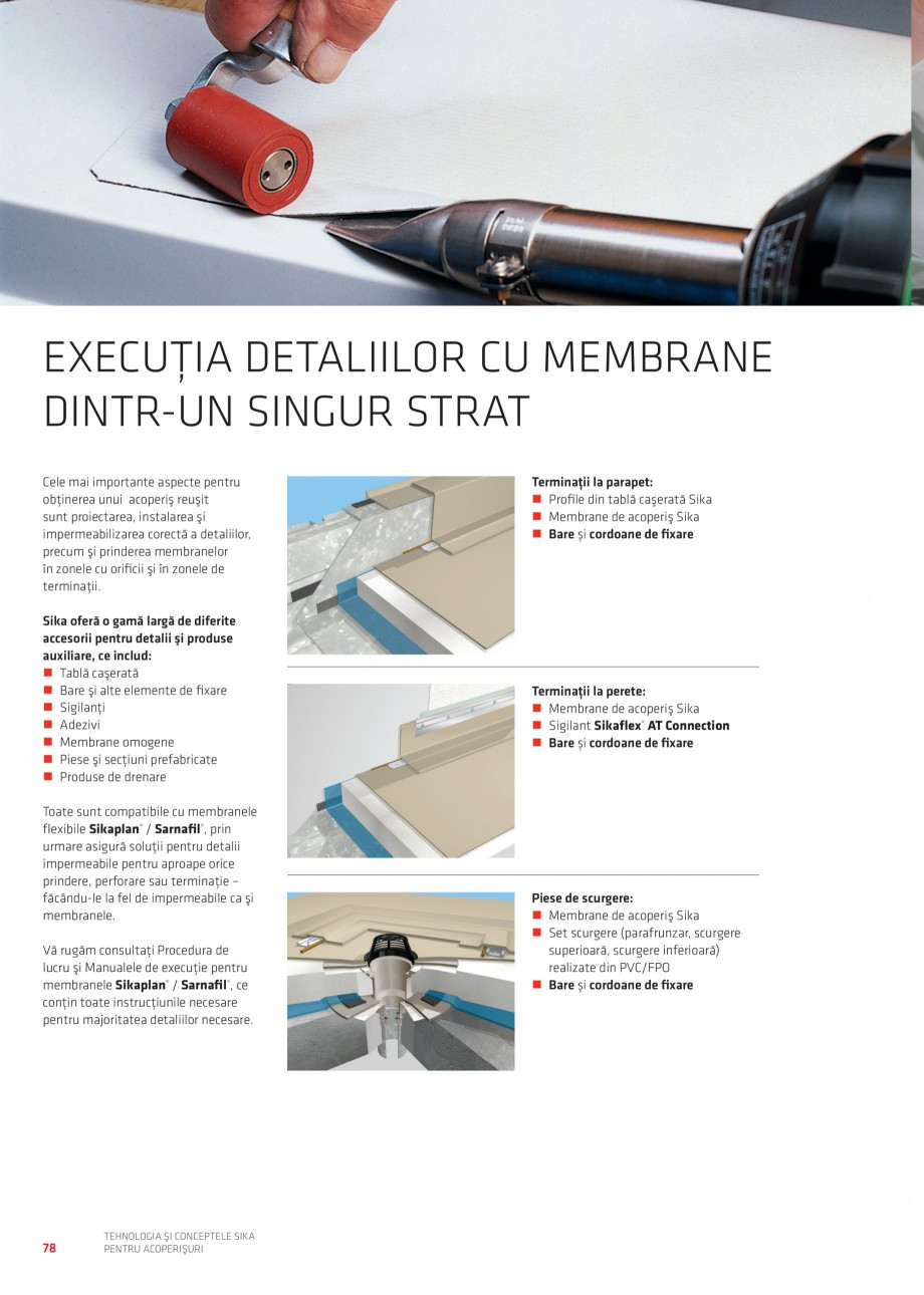 Pagina 77 - Tehnologia si conceptele Sika pentru acoperisuri SIKA Sarnafil® TG 66-18,...