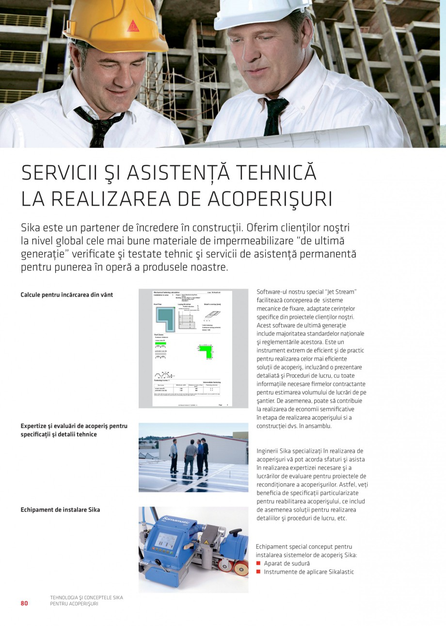 Pagina 79 - Tehnologia si conceptele Sika pentru acoperisuri SIKA Sarnafil® TG 66-18,...