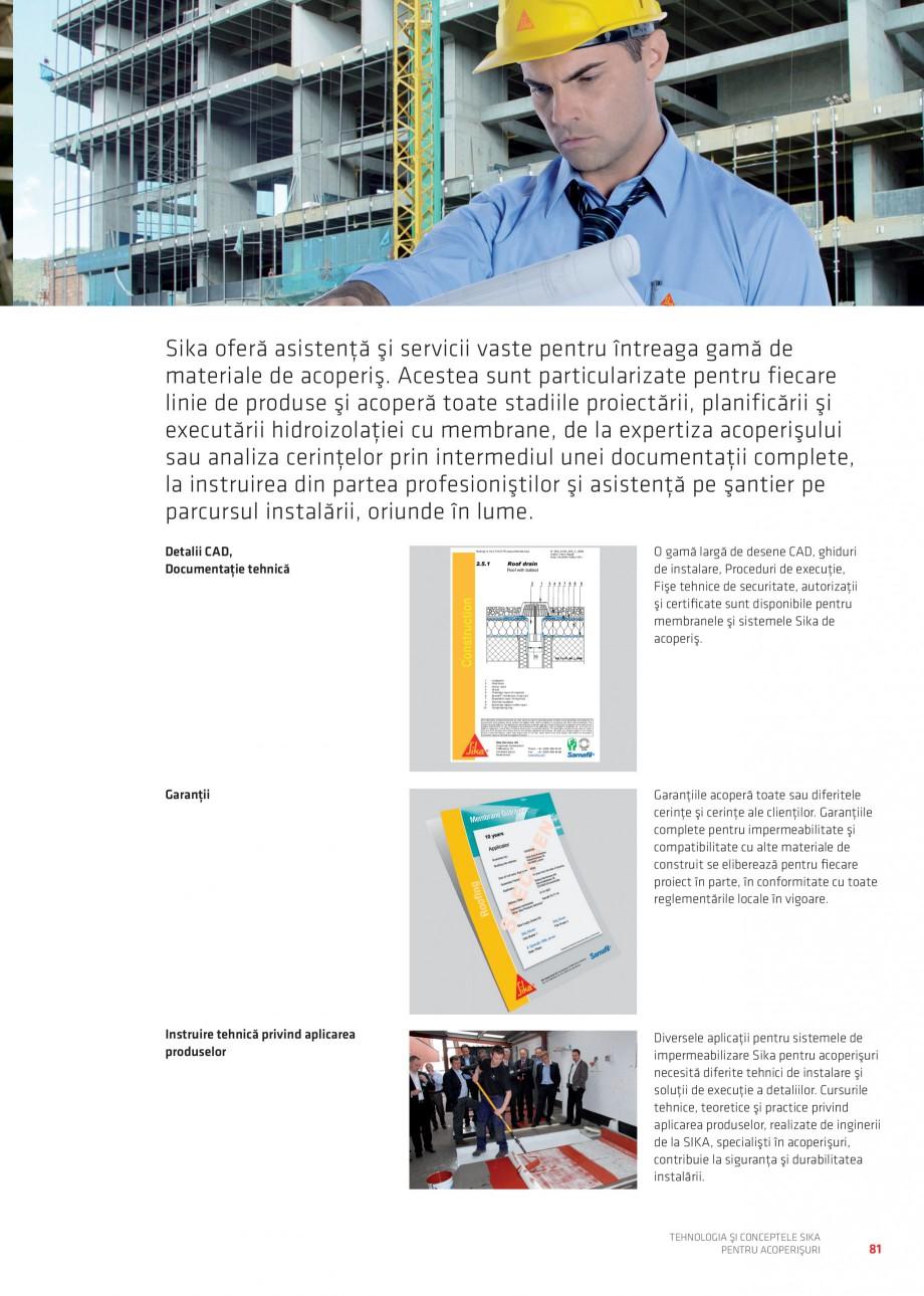 Pagina 81 - Tehnologia si conceptele Sika pentru acoperisuri SIKA Sarnafil® TG 66-18,...