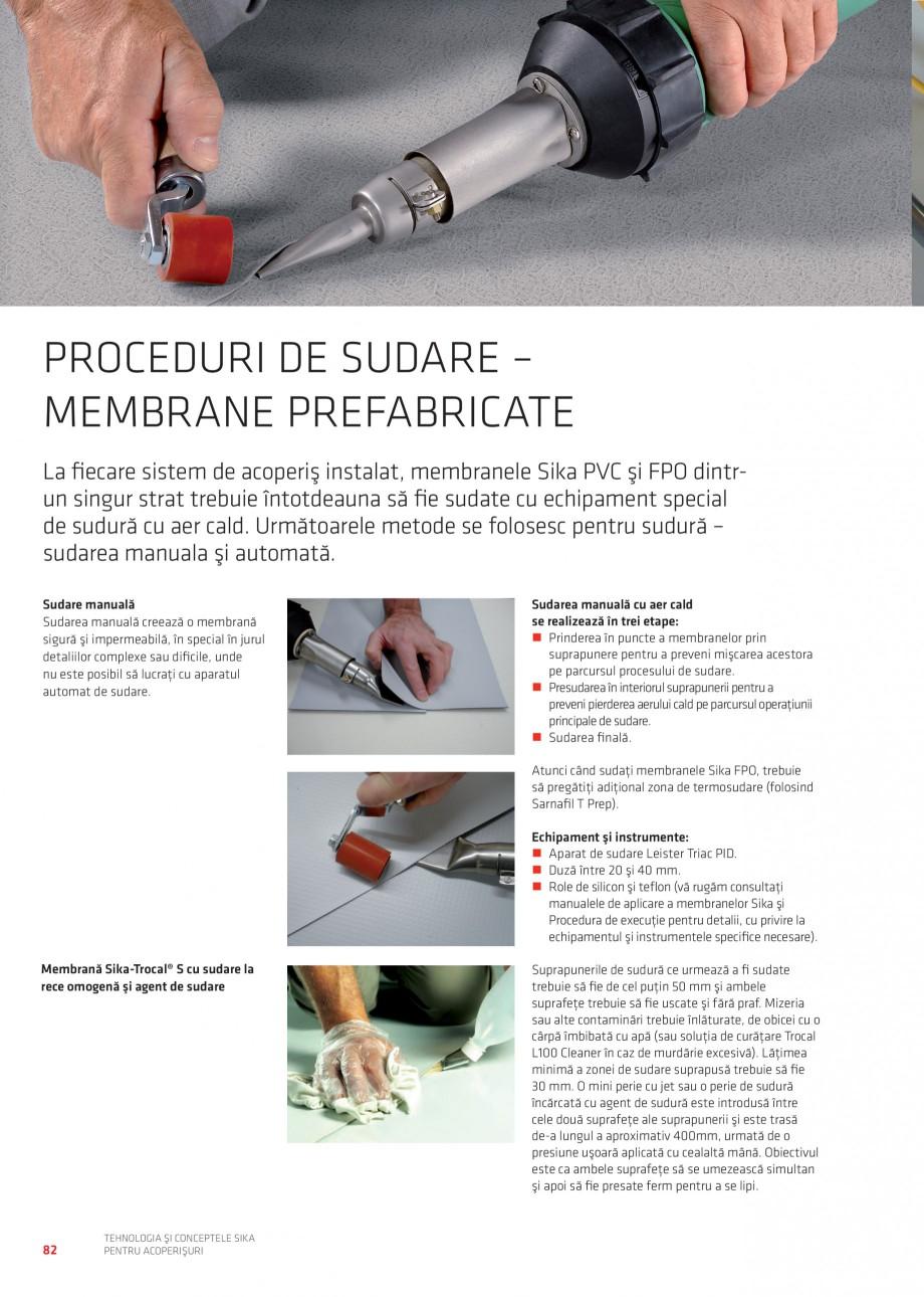Pagina 82 - Tehnologia si conceptele Sika pentru acoperisuri SIKA Sarnafil® TG 66-18,...