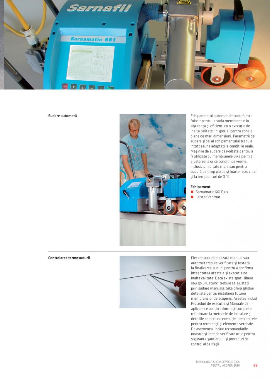 Pagina 83 - Tehnologia si conceptele Sika pentru acoperisuri SIKA Sarnafil® TG 66-18,...