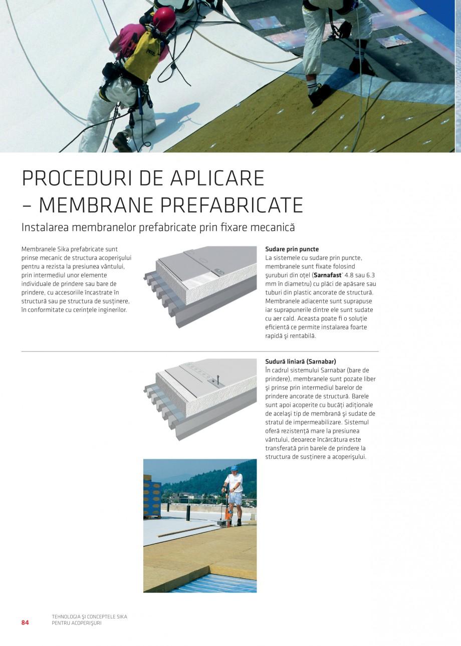 Pagina 84 - Tehnologia si conceptele Sika pentru acoperisuri SIKA Sarnafil® TG 66-18,...
