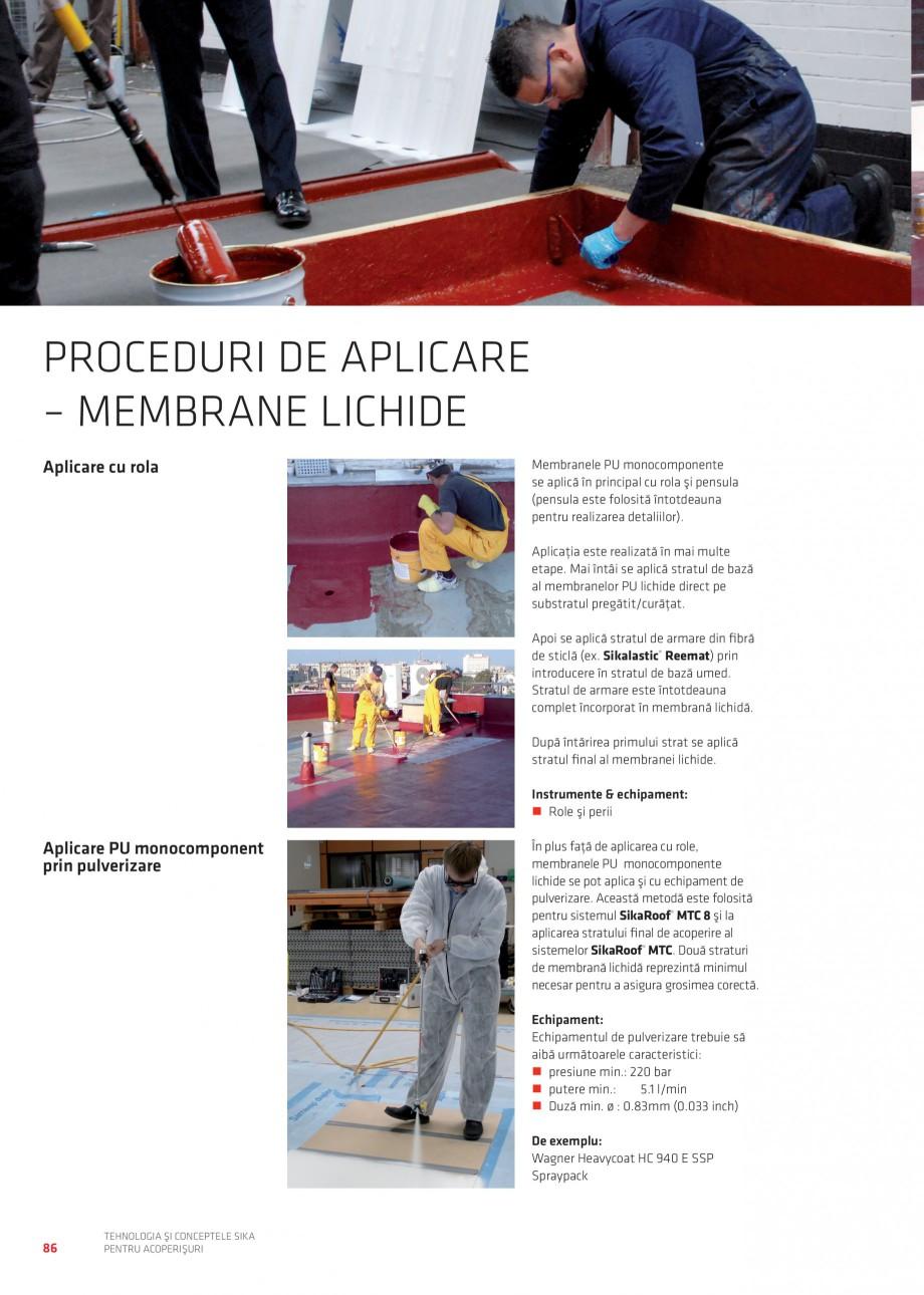 Pagina 86 - Tehnologia si conceptele Sika pentru acoperisuri SIKA Sarnafil® TG 66-18,...