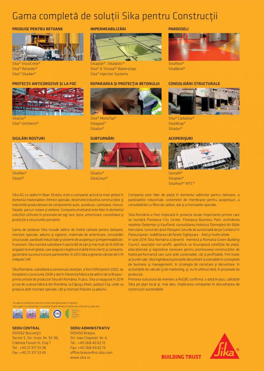 Pagina 88 - Tehnologia si conceptele Sika pentru acoperisuri SIKA Sarnafil® TG 66-18,...