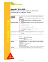 Membrana polimerica pentru impermeabilizarea acoperisurilor SIKA