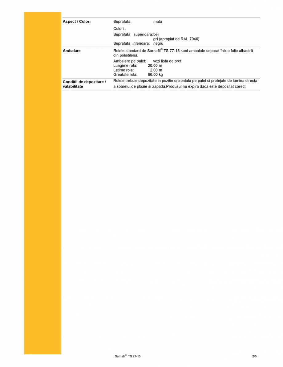 Membrana polimerica pentru impermeabilizarea