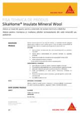 Adeziv si masa de spaclu pentru sistemele de izolare termica a cladirilor SIKA