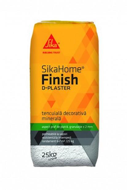 Tencuiala decorativa minerala SikaHome® Finish D-Plaster Adezivi pentru finisarea si amenajarea casei