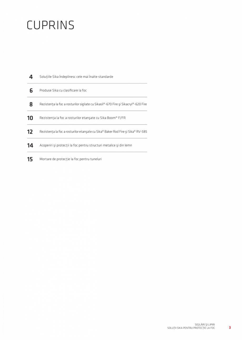 Pagina 3 - Protectie la foc - Produse pentru rosturi si strapungeri SIKA Sikasil®-670 Fire,...