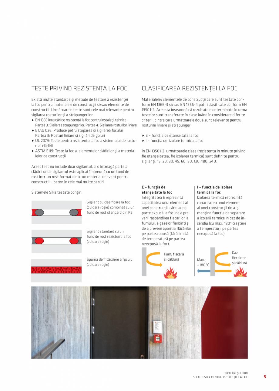 Pagina 5 - Protectie la foc - Produse pentru rosturi si strapungeri SIKA Sikasil®-670 Fire,...