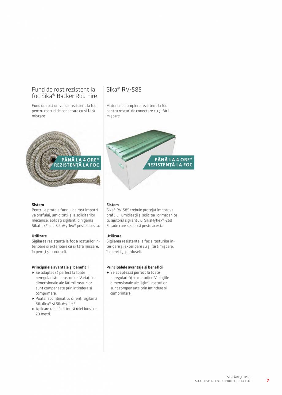 Pagina 7 - Protectie la foc - Produse pentru rosturi si strapungeri SIKA Sikasil®-670 Fire,...