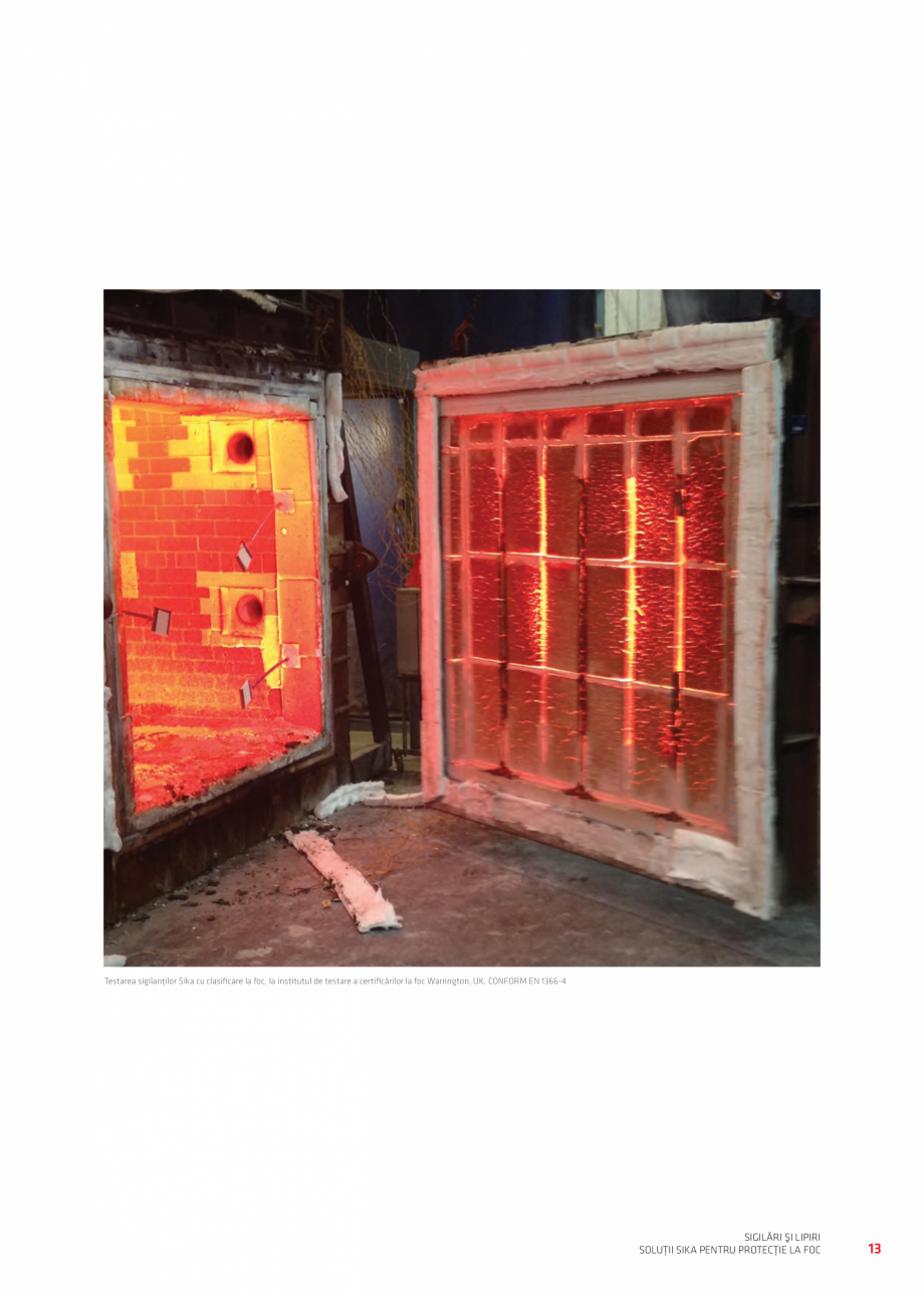 Pagina 13 - Protectie la foc - Produse pentru rosturi si strapungeri SIKA Sikasil®-670 Fire,...