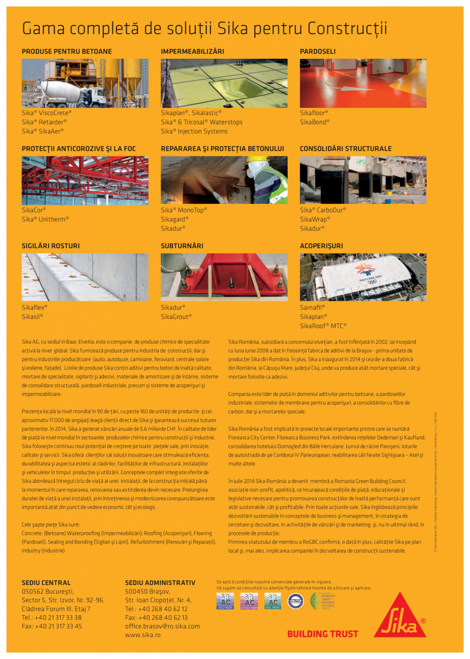 Pagina 16 - Protectie la foc - Produse pentru rosturi si strapungeri SIKA Sikasil®-670 Fire,...