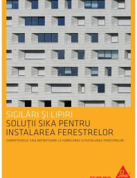 Solutii Sika pentru instalarea ferestrelor