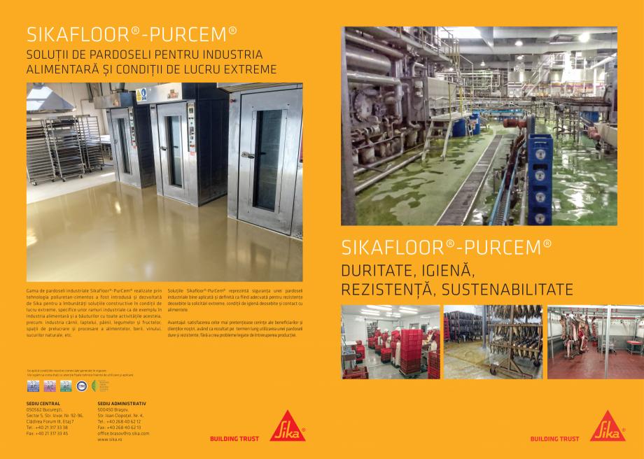 Pagina 1 - Solutii de pardoseli pentru industria alimentara si conditii de lucru extreme SIKA...