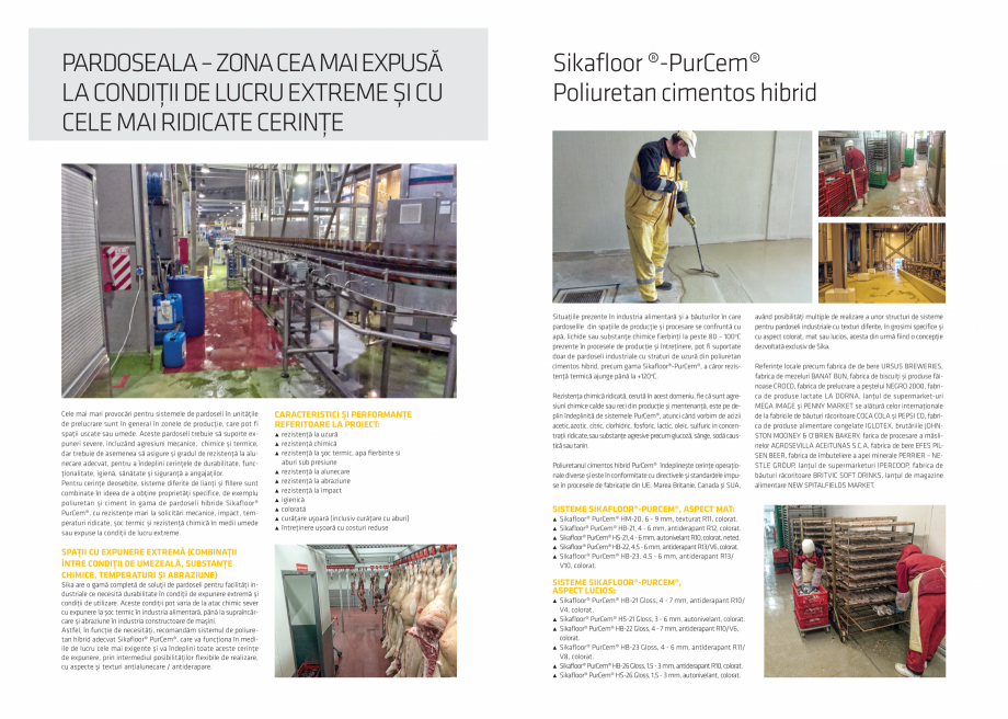 Pagina 2 - Solutii de pardoseli pentru industria alimentara si conditii de lucru extreme SIKA...