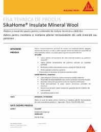 Adezivi si masa de spaclu pentru sistemele de izolare termica a cladirilor