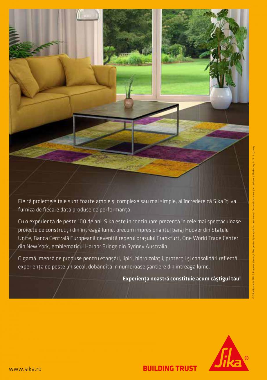 Pagina 20 - Produse si solutii pentru lipire placi ceramice sau finisaje interioare exterioare SIKA ...