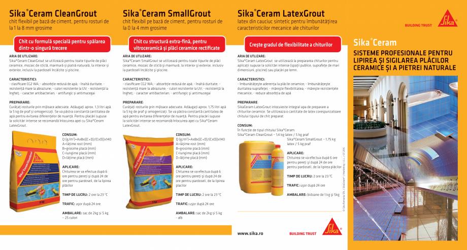 Pagina 1 - Sisteme profesionale pentru lipirea si sigilarea placilor ceramice si a pietrei naturale ...